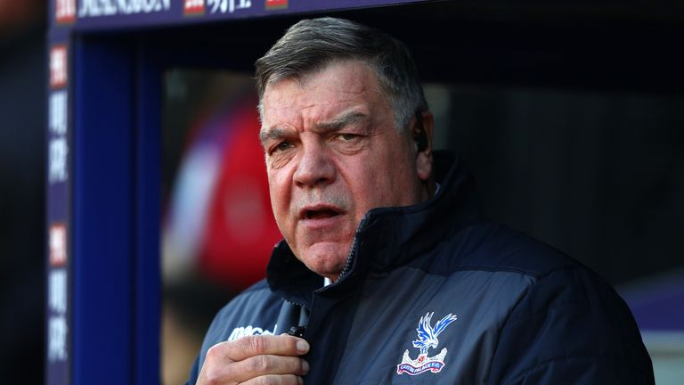 LONDON, ENGLAND - JANUARY 21:  Sam Allardyce manager of Crystal Palace looks on prior to the Premier League match between Crystal Palace and Everton at Sel