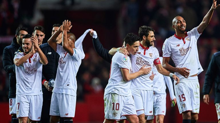 Sevilla celebrate their dramatic victory