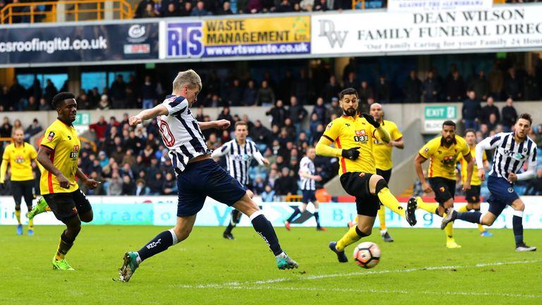 Steve Morison of Millwall scores