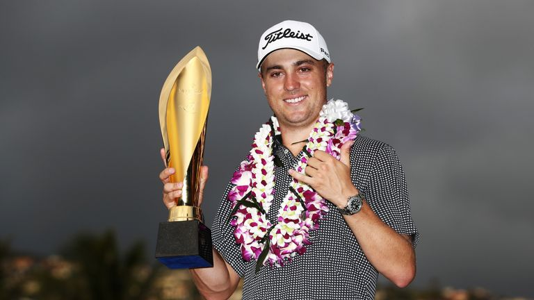 Thomas ended the week 27 under par in Hawaii