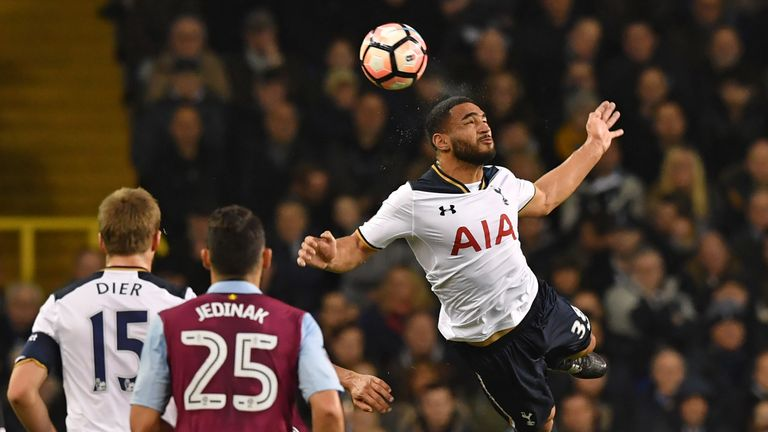 Cameron Carter-Vickers (right) jumps to win a header