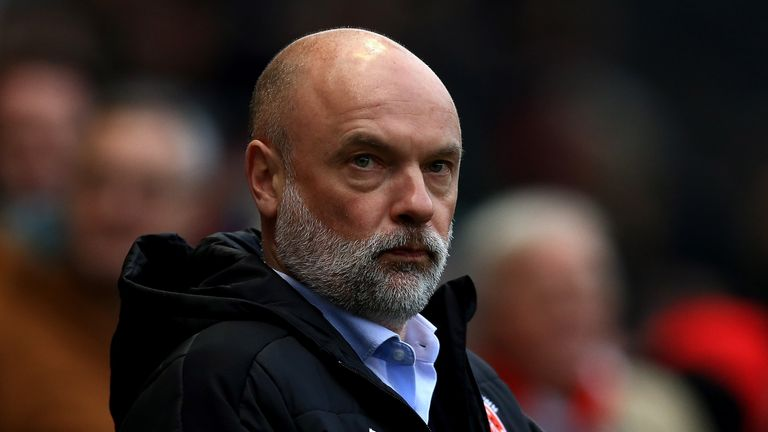 BRISTOL, ENGLAND - JANUARY 07:  Fleetwood manager Uwe Rosler look on ahead of The Emirates FA Cup Third Round match between Bristol City and Fleetwood Town