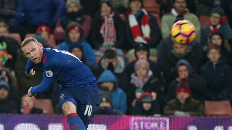 Wayne Rooney goal, Stoke City v Manchester United, Premier League