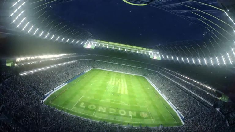 watch tottenham reveal retractable pitch at new stadium