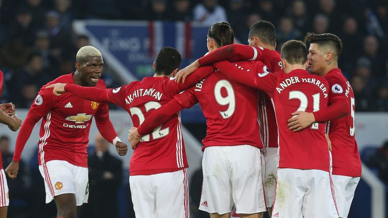 Manchester United eased past Leicester in their last Premier League outing