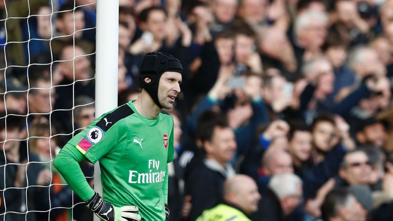 A poor clearance from Arsenal goalkeeper Petr Cech led to Chelsea's third goal