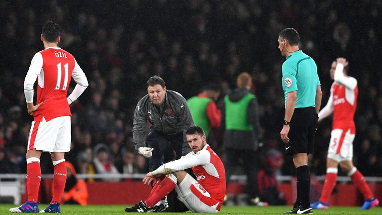 Injuries have affected Aaron Ramsey's career at Arsenal