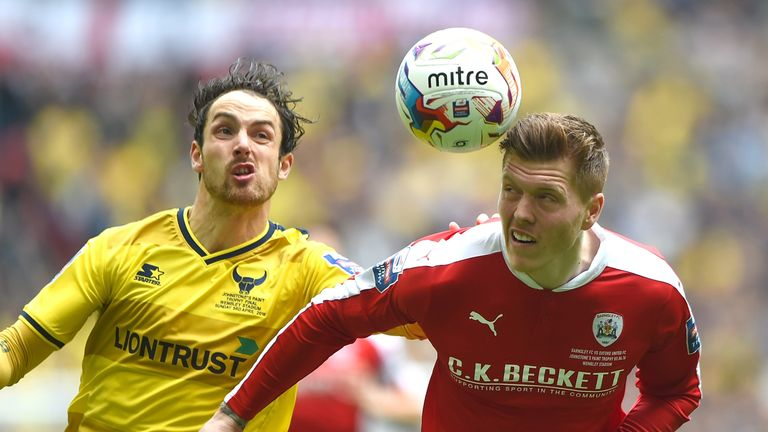 Alfie Mawson (right) in action here for Barnsley