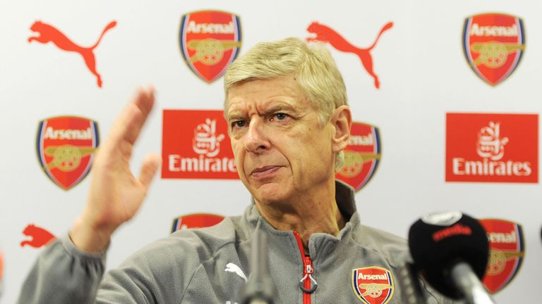 Arsenal manager Arsene Wenger attends a press conference at London Colney on December 2, 2016 in St Albans, England