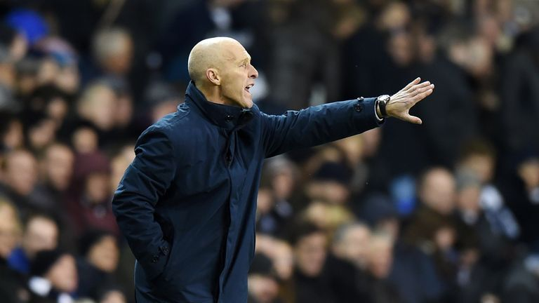LONDON, ENGLAND - DECEMBER 03:  Bob Bradley, Manager of Swansea City gestures during the Premier League match between Tottenham Hotspur and Swansea City at