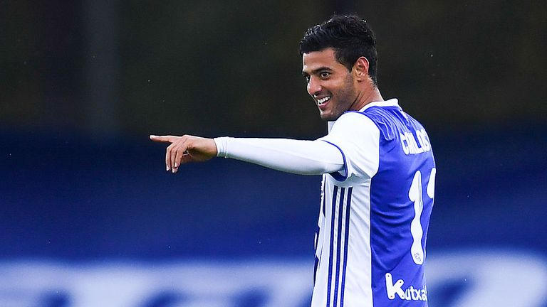Carlos Vela scored from the spot in Sociedad's 2-2 draw with Eibar