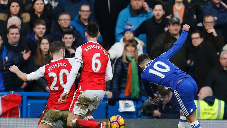 Eden Hazard scores Chelsea's second goal