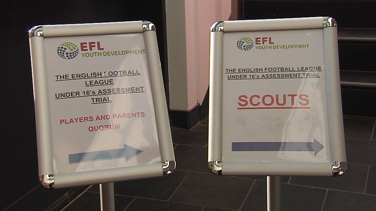 The triallists were watched by scouts from across the EFL