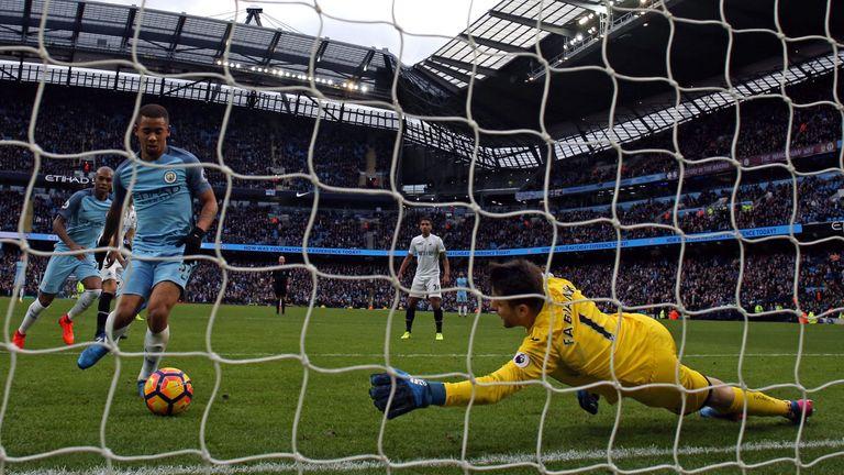 Jesus hit a stoppage-time winner in City's win over Swansea