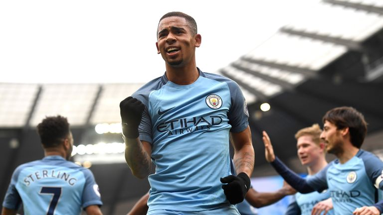Gabriel Jesus gives Manchester City the lead