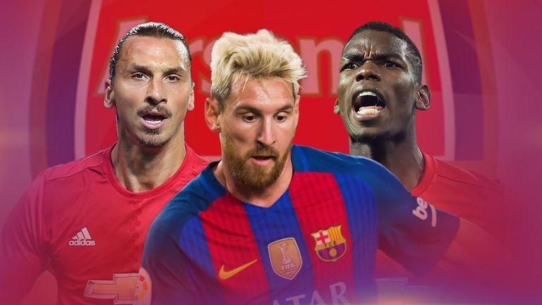Pogba, Messi, Suarez, Ronaldo    The Arsenal XI Arsene Wenger could