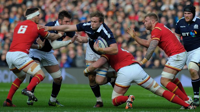 Wales were beaten by Scotland at Murrayfield