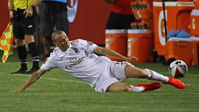 Luca Antonelli picked up an injury during training at Milanello on Wednesday