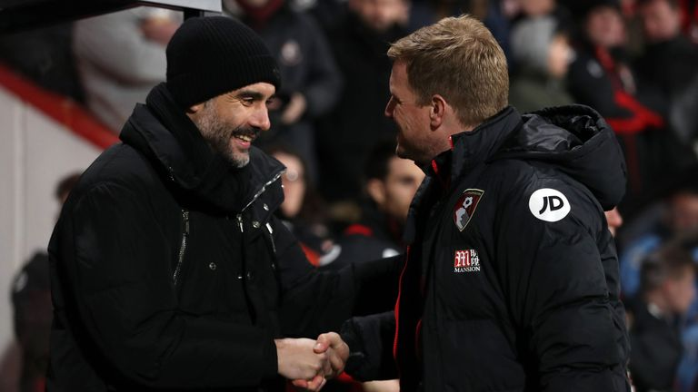 Pep Guardiola believes Eddie Howe will manage one of the Premier League's top clubs
