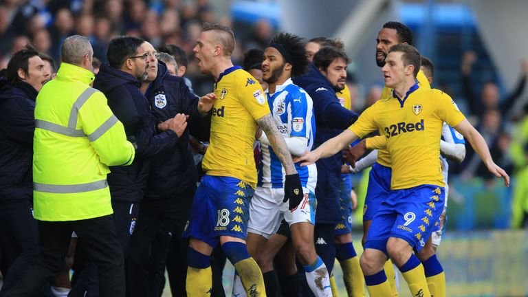 David Wagner and Garry Monk have been fined for their part in the mass brawl towards the end of Huddersfield's win over Leeds