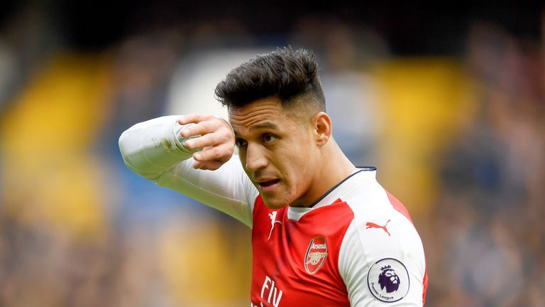 Alexis Sanchez during the Premier League match between Chelsea and Arsenal at Stamford Bridge