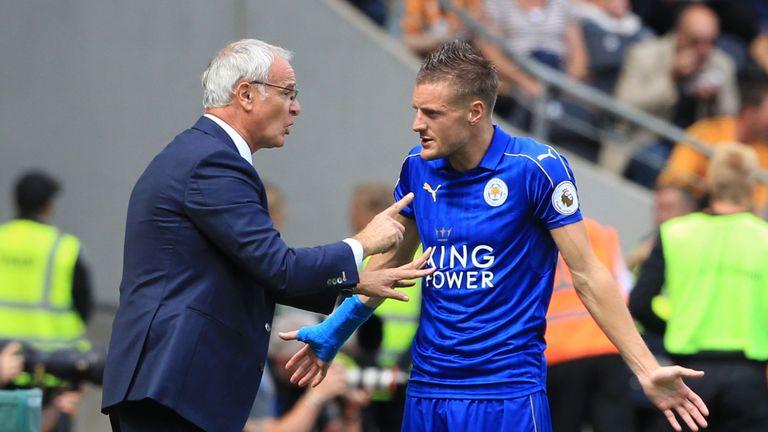 Claudio Ranieri (L) and Jamie Vardy