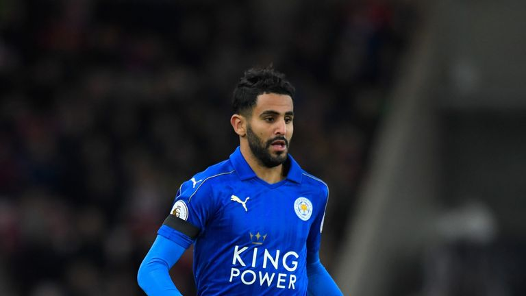 Mahrez scored six goals in the Premier League last season