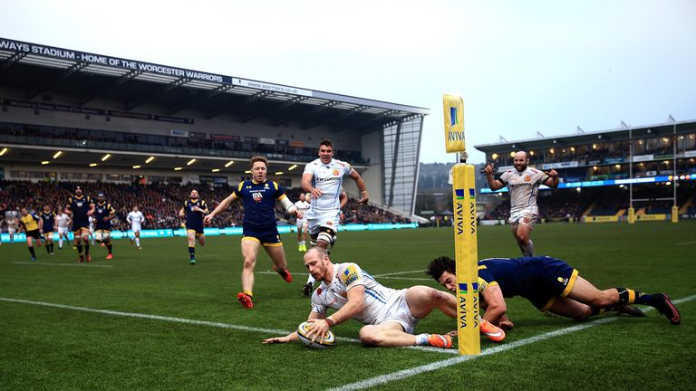 James Short scored a hat-trick against the Warriors at Sixways
