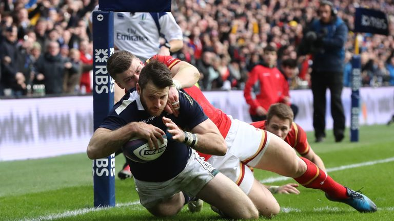 Tommy Seymour's try helped Scotland score 20 unanswered second-half points