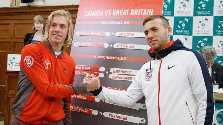 Shapovalov and Evans at the draw ceremony