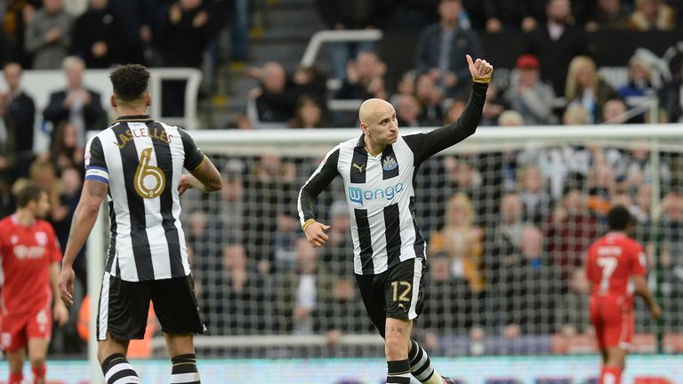 Newcastle United's Jonjo Shelvey