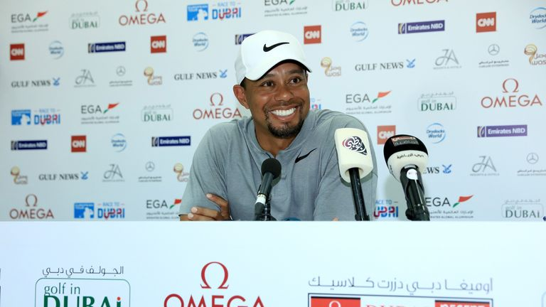 Woods was upbeat over his health, insisting he was 'pain free' in his pre-tournament press conference