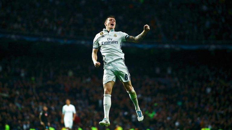 Toni Kroos scored Real Madrid's second of the evening