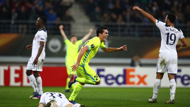 Tottenham will have to overturn a one-goal deficit at White Hart Lane next week following their defeat to Gent