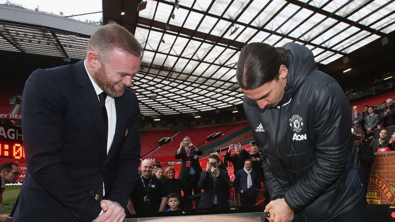 <<enter caption here>> at Old Trafford on February 8, 2017 in Manchester, England.