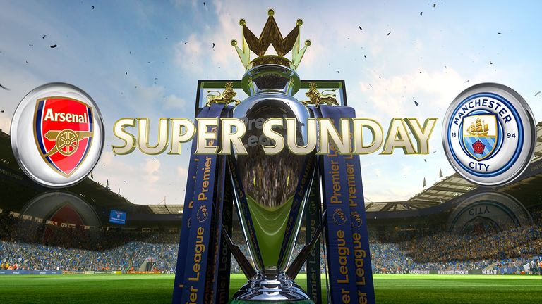 Arsenal host top-four rivals Manchester City in their Super Sunday clash at the Emirates