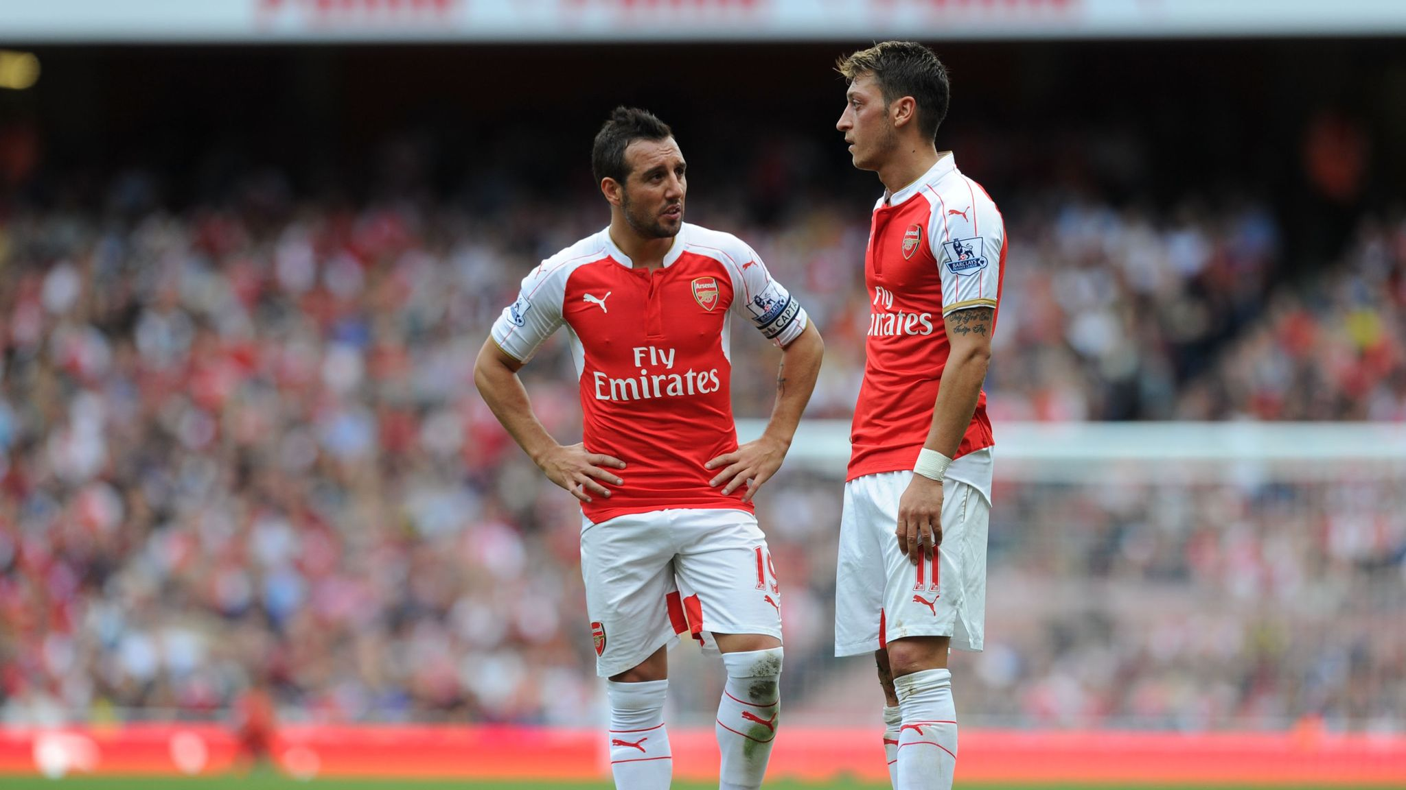 Mesut Ozil 'suffering' Arsenal without Santi Cazorla, says Arsenal ...