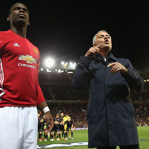 Mourinho leaps to Pogba defence