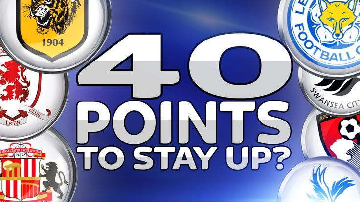Forty points to stay up?
