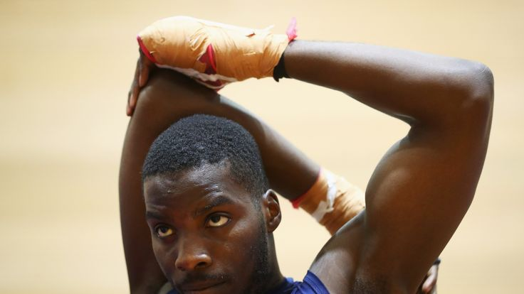 RIO DE JANEIRO, BRAZIL - AUGUST 03:  Lawrence Okolie of Great Britain or Team GB from the mens Boxing Team warms up during the Olympics preview day - 2 at