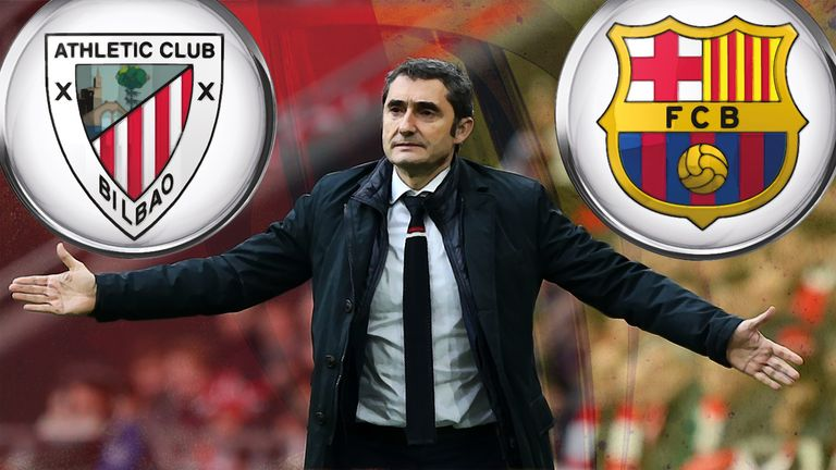 Athletic Bilbao coach Ernesto Valverde has been linked with a move to Barcelona