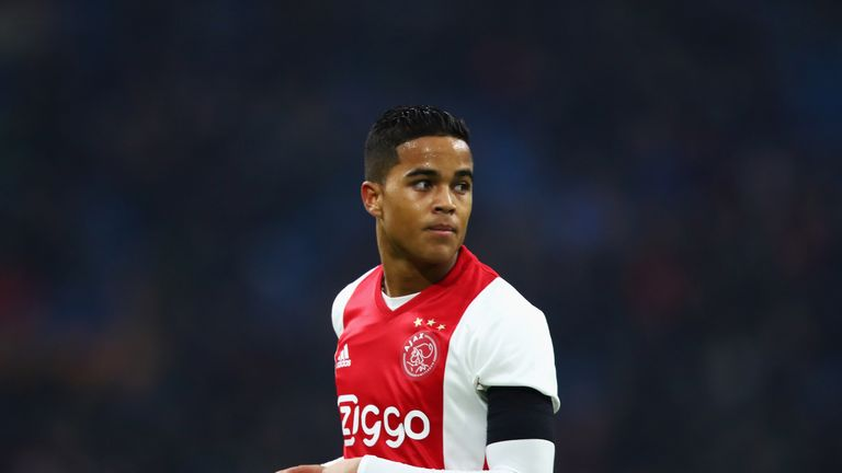 Justin Kluivert scored his first Ajax goal on Sunday afternoon