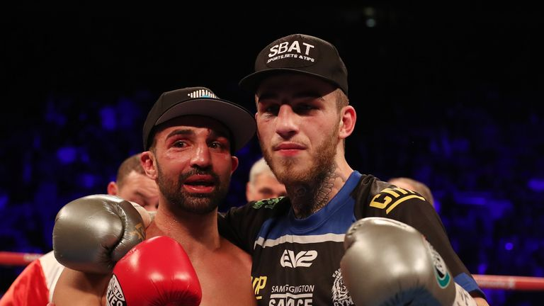 O2 BOXING 4-3-17.02,LONDON.PIC;LAWRENCE LUSTIG.WBC International Welterweight Championship.Sam Eggington vs Paulie Malignaggi.