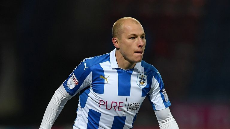 HUDDERSFIELD, ENGLAND - NOVEMBER 28:  Aaron Mooy of Huddersfield during the Sky Bet Championship match between Huddersfield Town and Wigan Athletic at John
