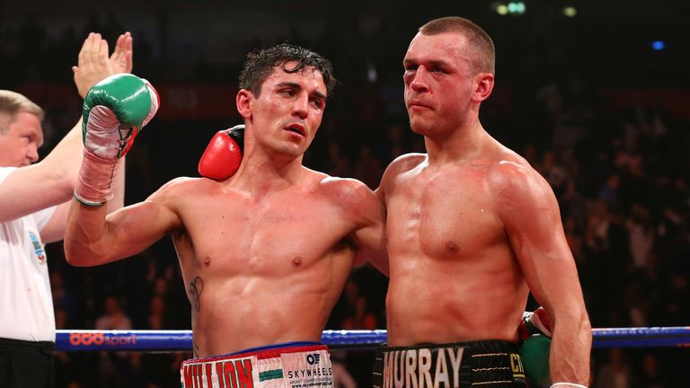 John Murray was halted in the 10th round of his fight with fellow Mancunian Crolla