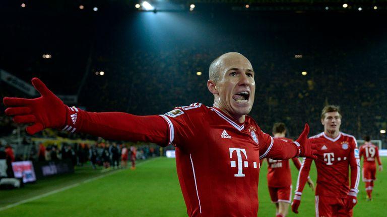 Arjen Robben Signal Iduna Park am 23. November 2013 in Dortmund, Deutschland.