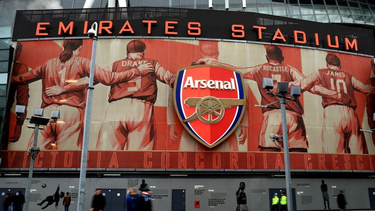 A general view outside of the Emirates Stadium ahead the Premier League match between Arsenal and Hull City.