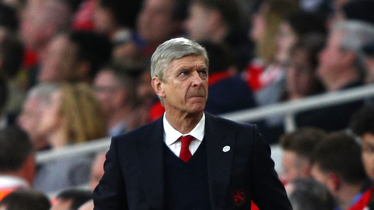 LONDON, ENGLAND - MARCH 11:  Arsene Wenger, Manager of Arsenal looks on during The Emirates FA Cup Quarter-Final match between Arsenal and Lincoln City at
