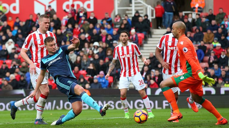 Ben Gibson's second-half effort was ruled out for offside
