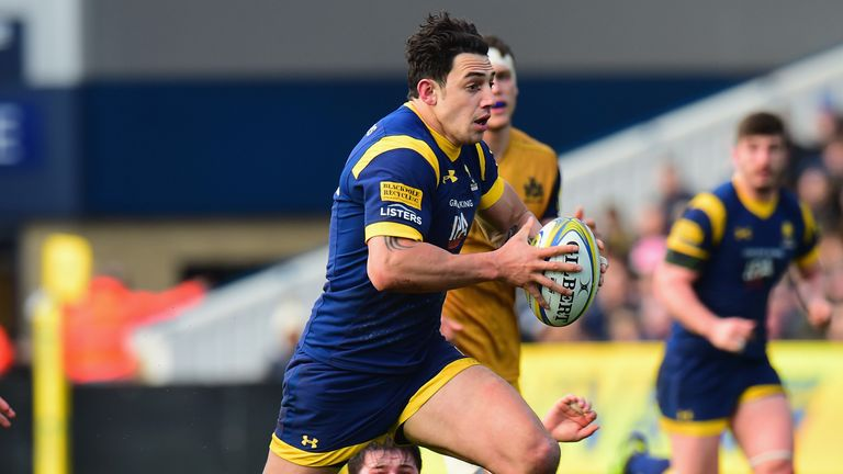 Bryce Heem attacks for Worcester